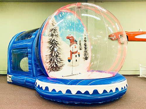 Happy Holidays Winter Snow Globe (Includes Staffing)