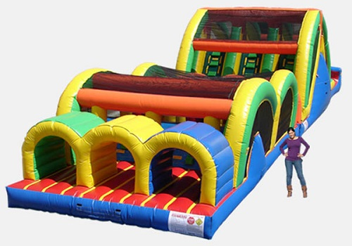 3 Lane Mega Thrill Obstacle Course