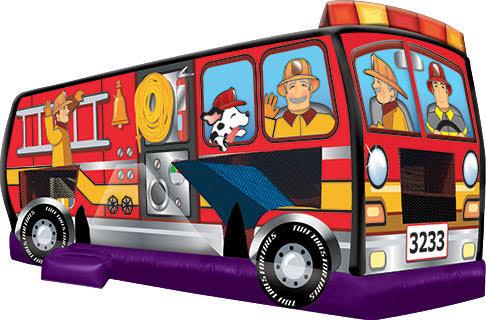 Fire Truck Jump & Slide