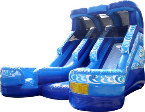 Giant Double Splash Water Slide