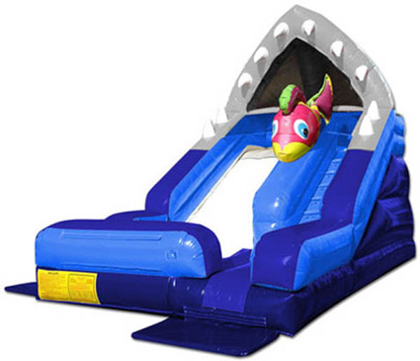 Inflatable Water Slide Tall: Shark Escape Water Slide Rental In PA