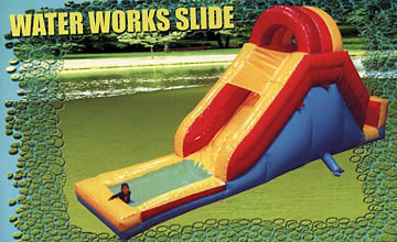 Backyard Water Slide is fun for all ages.